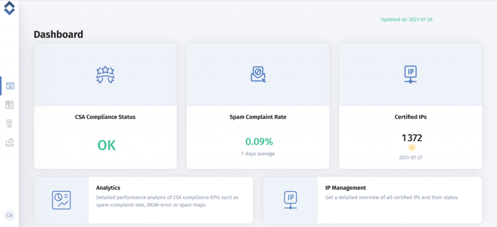 Certification Monitor Dashboard